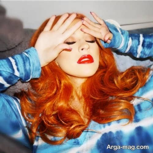 رنگ مو زنانه آتشی