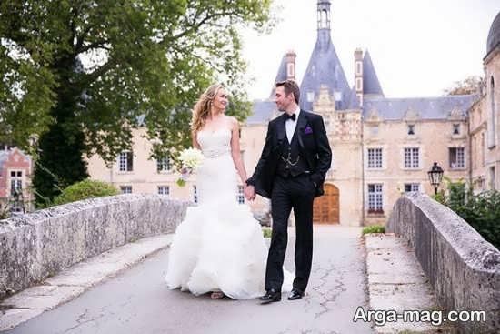 استایل جذاب عروس و داماد