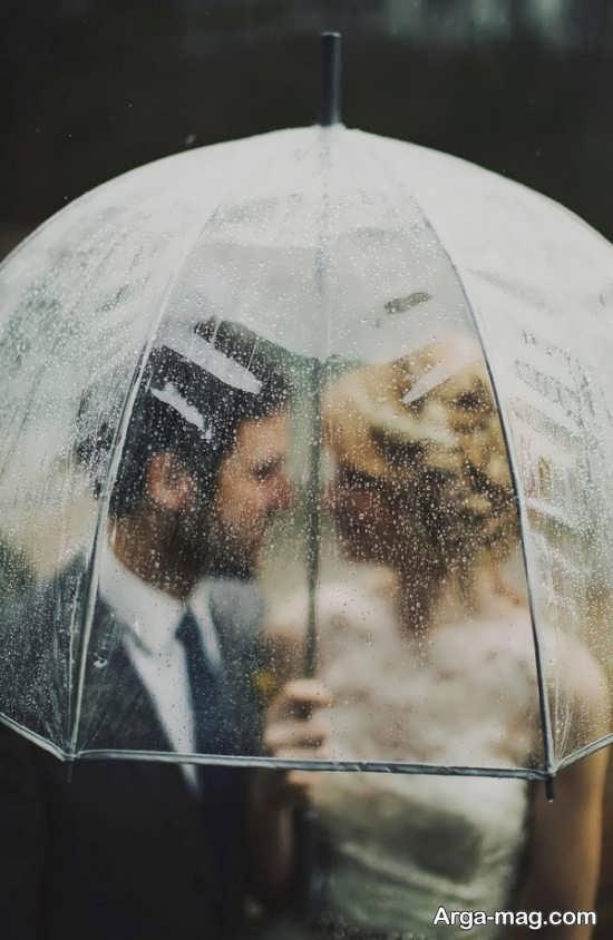 ژست خاص عروس و داماد