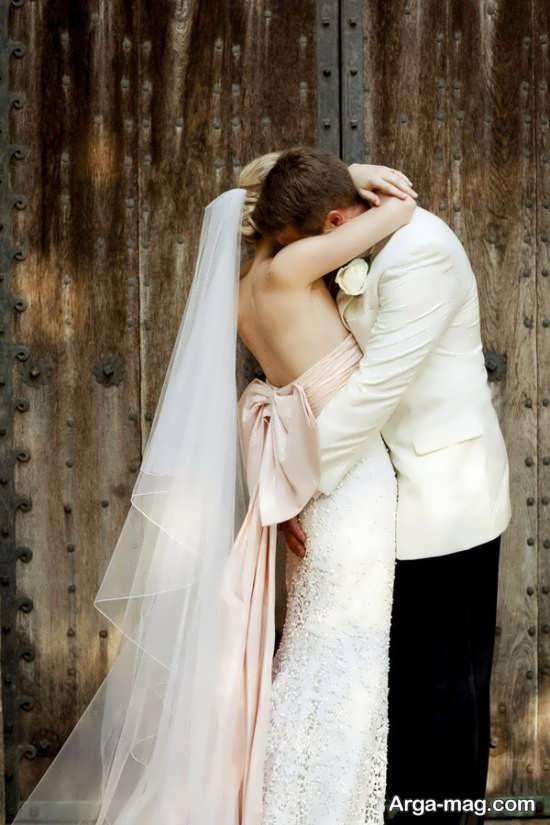 ژست متفاوت عروس و داماد
