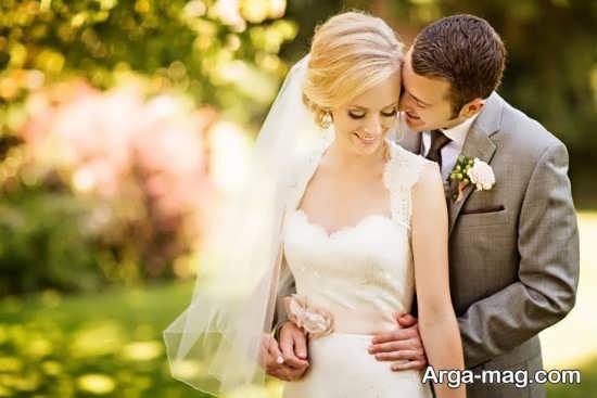 استایل رمانتیک عروس و داماد