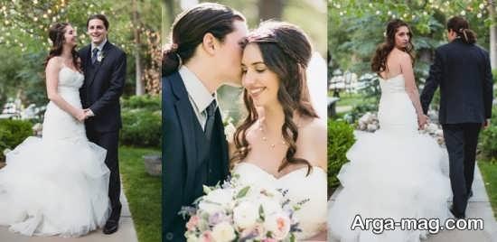 عکس فوق العاده عروس و داماد