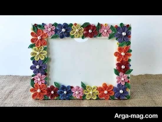 ساخت حاشیه قاب عکس با گل
