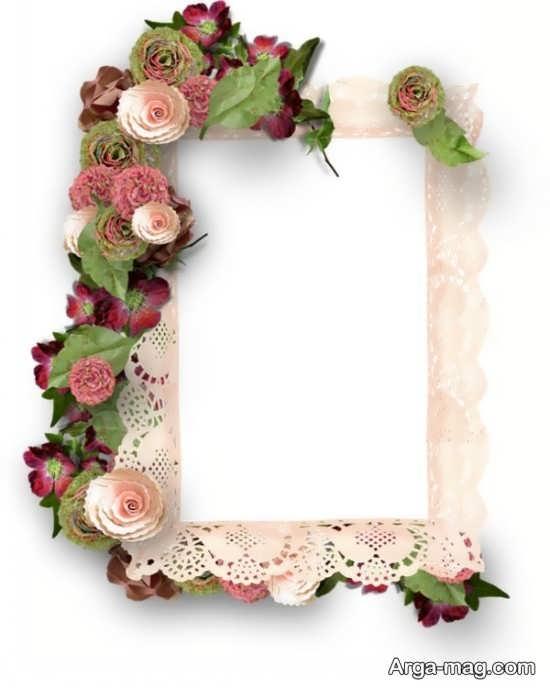 راحی زیبای قاب عکس با گل