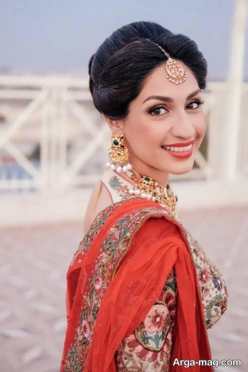 آرایش صورت زیبا و شیک هندی