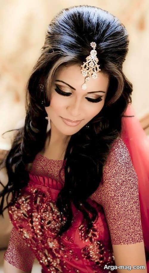 مدل آرایش صورت زنانه هندی