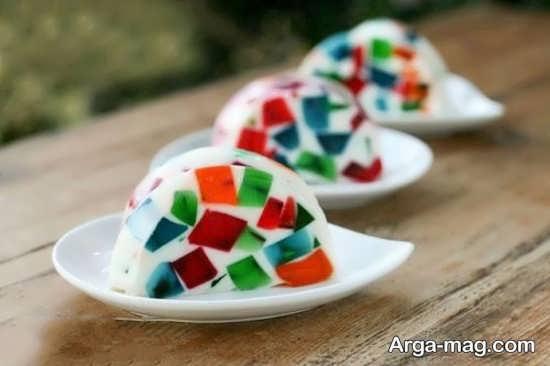 Jelly Decoration with Gummi candy 21 - ۲۵ روش تزیین ژله با پاستیل که دسر شما را جذاب تر می کنند