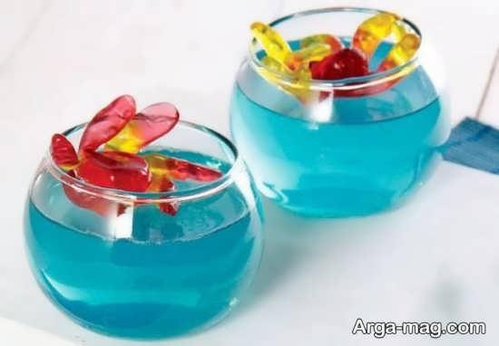 Jelly Decoration with Gummi candy 22 - ۲۵ روش تزیین ژله با پاستیل که دسر شما را جذاب تر می کنند