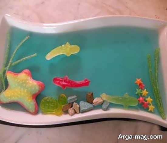 Jelly Decoration with Gummi candy 8 - ۲۵ روش تزیین ژله با پاستیل که دسر شما را جذاب تر می کنند