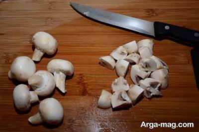 خرد کردن قارچ