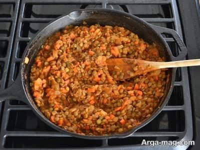 پیاز و هویج تفت خورده
