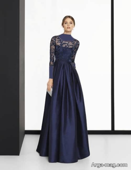 مدل لباس مجلسی بلند گیپور پوشیده