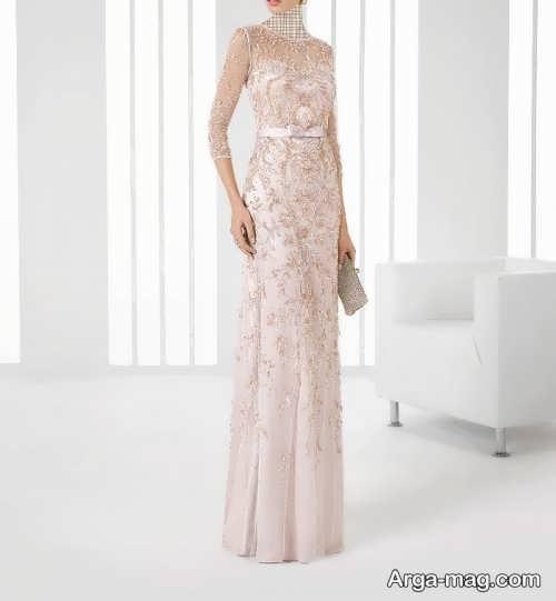 مدل لباس مجلسی آستین دار گیپور