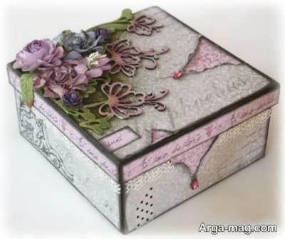 تزیین جعبه هدیه مقوایی
