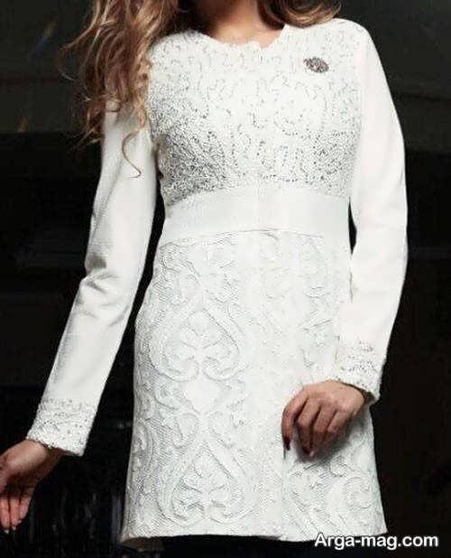مدل مانتوی سفید و شیک