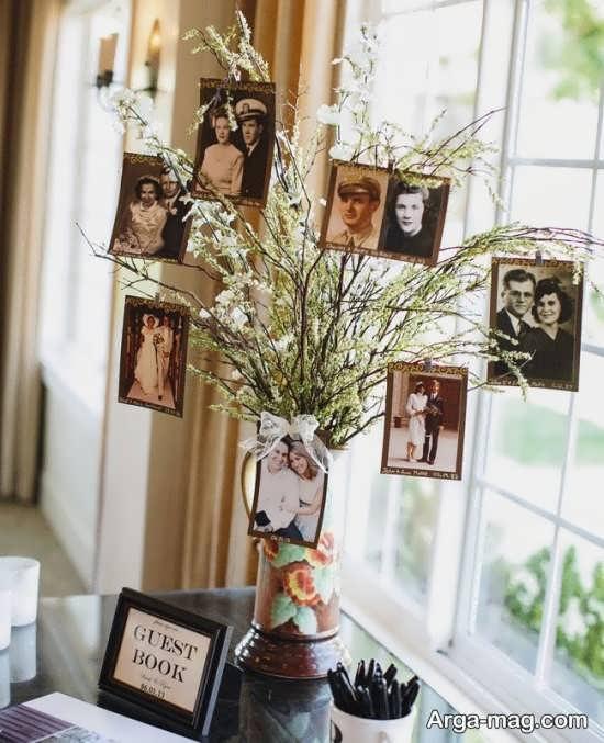 استفاده از طرح درختی در چیدمان میز یادگاری