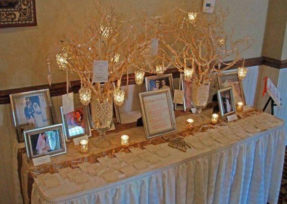 تزیین رمانتیک میز