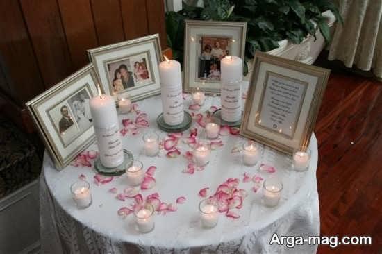 تزیین رمانتیک میز خاطره