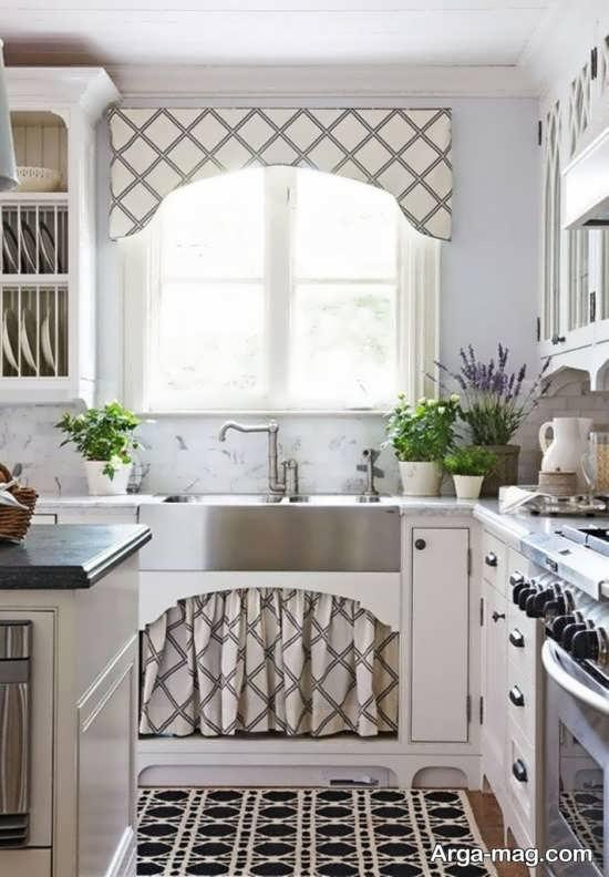طراحی فوق العاده پرده آشپزخانه