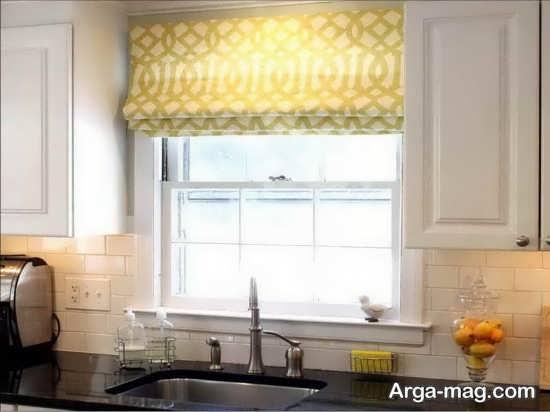 طراحی شیک پرده آشپزخانه