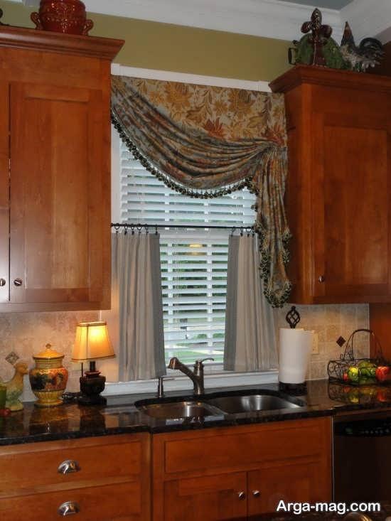 طراحی زیبای پرده آشپزخانه