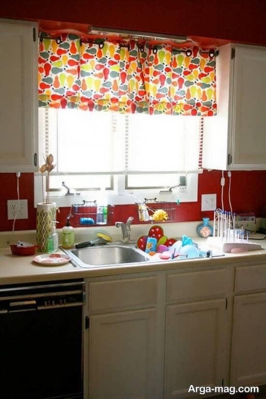 طراحی متفاوت پرده برای آشپزخانه