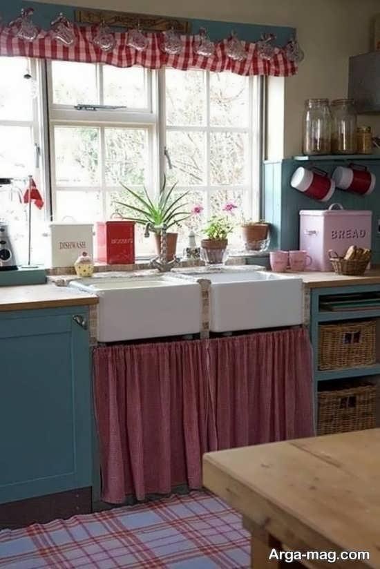 چیدمان عالی پرده آشپزخانه