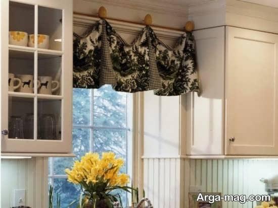 دیزاین جذاب پرده آشپزخانه