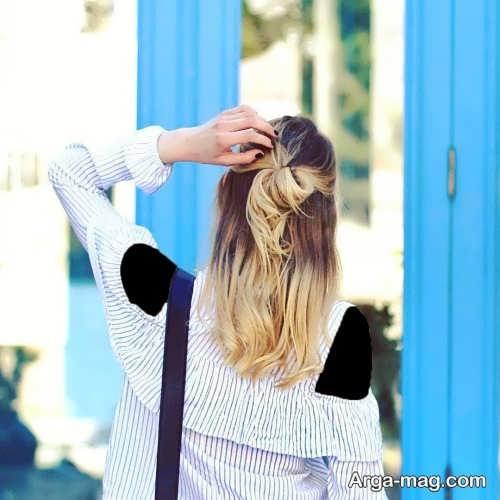مدل شینیون مو باز