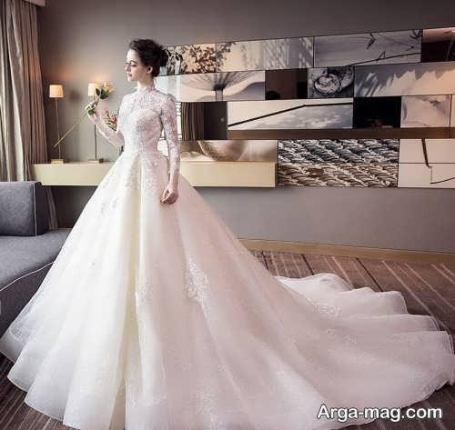 لباس عروس پوشیده جدید و زیبا