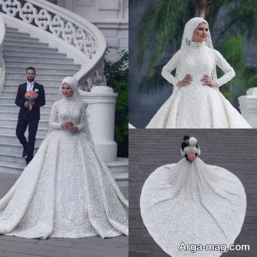 مدل لباس عروس محجبه