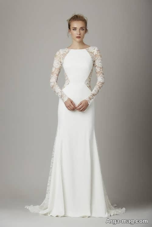 لباس عروس آستین دار و متفاوت