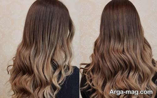 رنگ موی گردویی با هایلایت