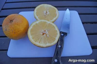 نصف کردن نارنج