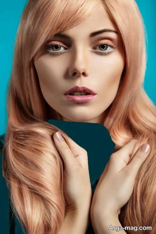 رنگ موی دخترانه هلویی