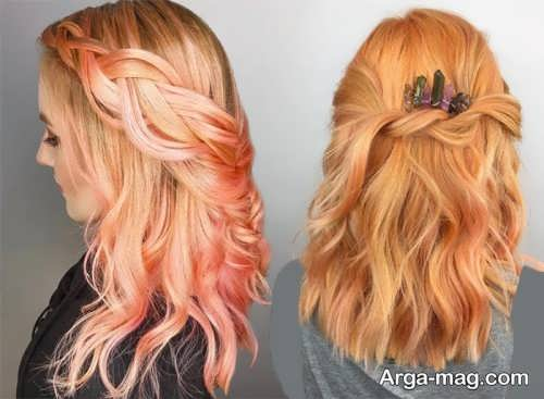 رنگ موی زیبا و پرطرفدار هلویی