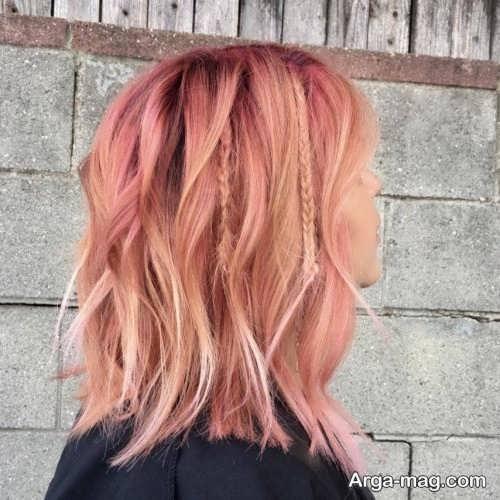 رنگ مو هلویی زیبا و جدید