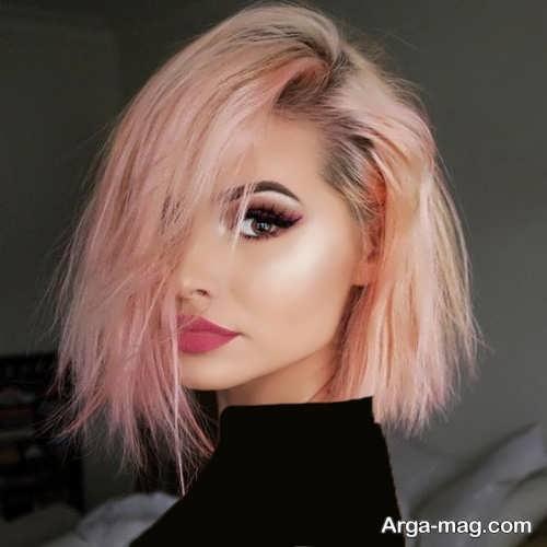 رنگ موی روشن هلویی