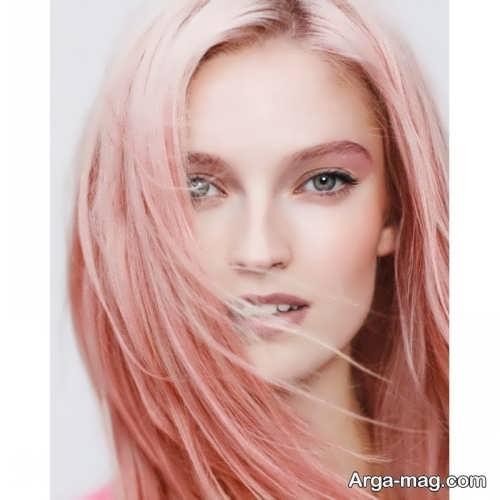 رنگ موی شیک و جذاب هلویی