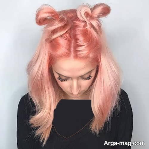رنگ موی هلویی دخترانه