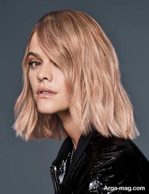 با ترکیب رنگ موی هلویی آشنا شوید عکس