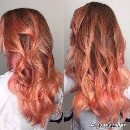 رنگ موی هلویی زنانه