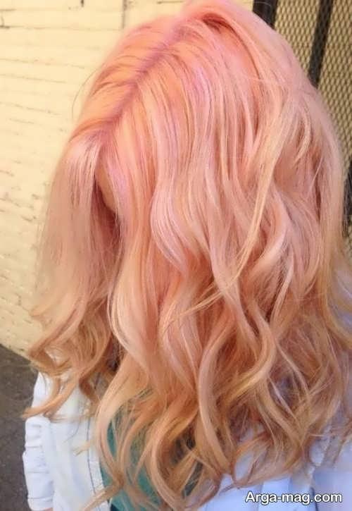 رنگ موی زیبا و شیک هلویی