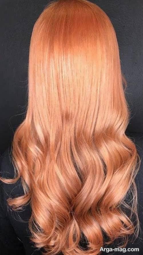 رنگ موی زنانه هلویی