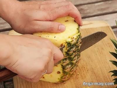 چدا کردن پوست آناناس