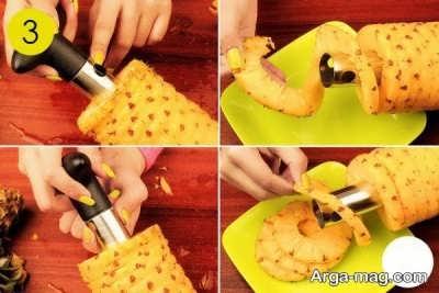 راحت ترین روش برای پوست کردن میوه آناناس