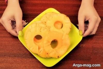 برش های حلقوی آناناس