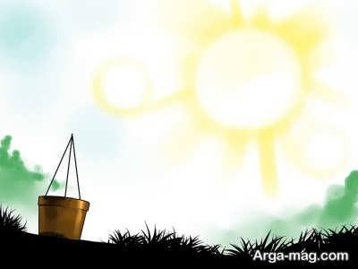 قرار دادن گلدان در نور آفتاب