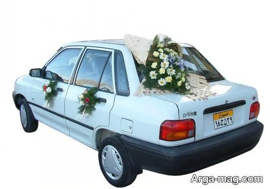 تصاویر تزیین ماشین عروس