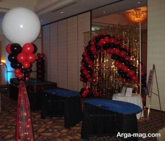 تم زیبای مشکی و قرمز در جشن تولد